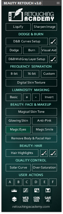 Beauty Retouch v2.0 panel