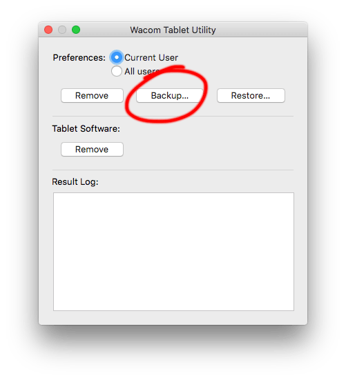 Backup Your Wacom Tablet Settings