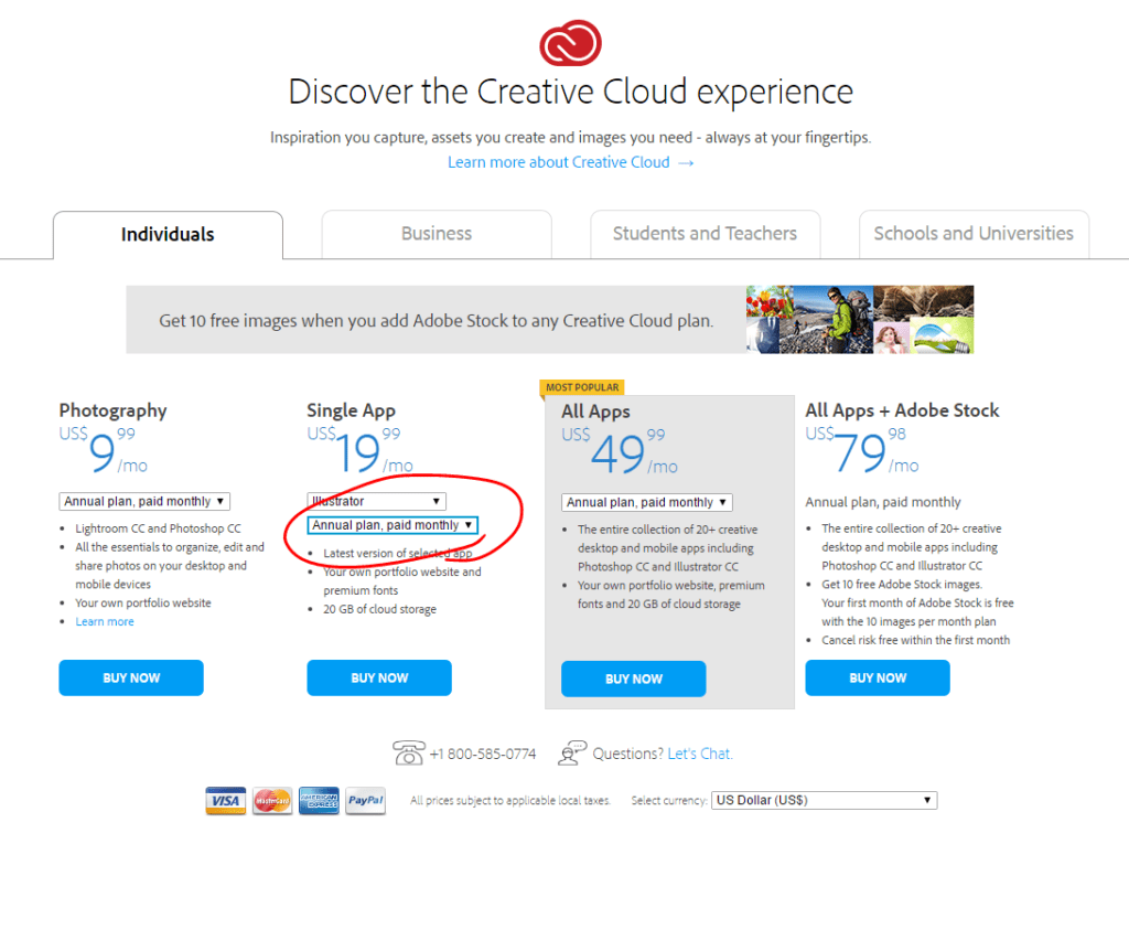 Adobe Creative Cloud Subscriptions – The Devil is in the
