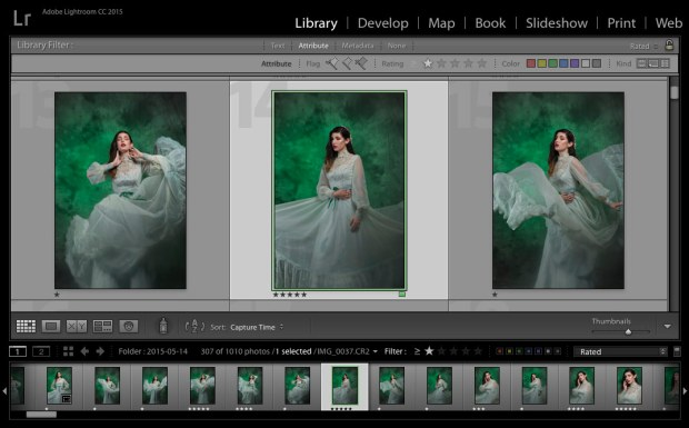 using lightroom to organize photos
