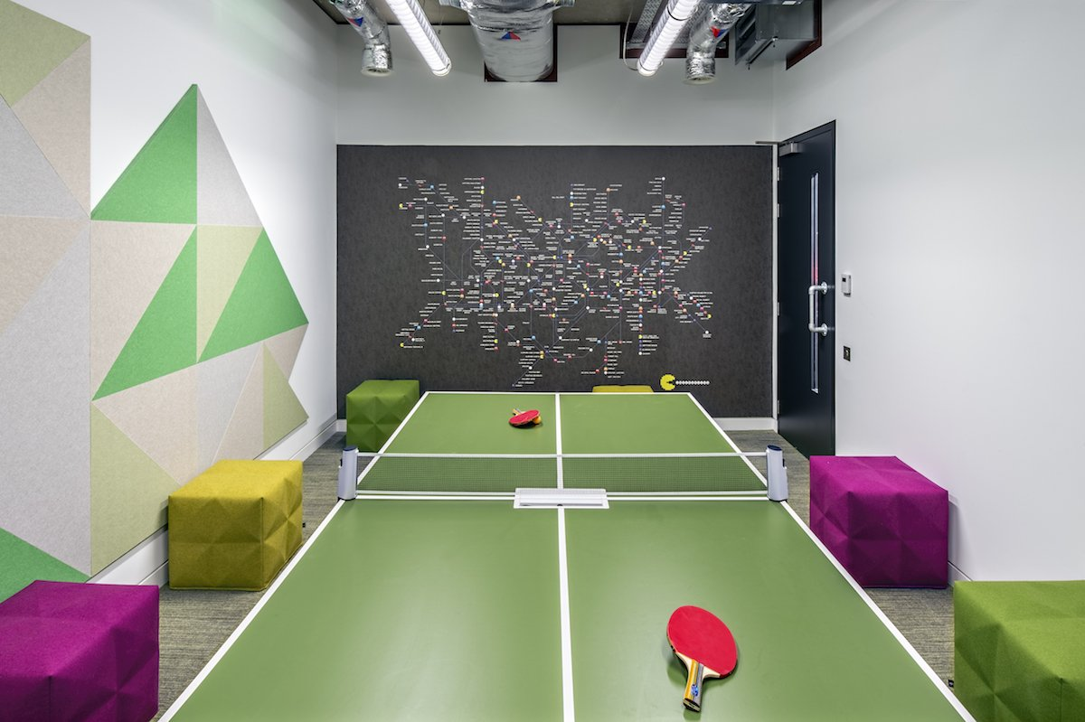 2017 Adobe. A Meeting Room With A Table Tennis Table