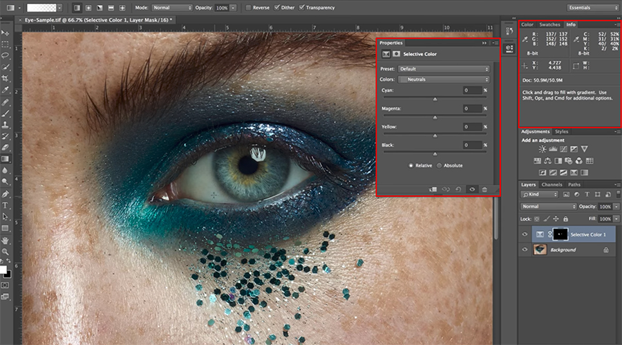 Screenshot How To Naturally Whiten Eyes in Adobe Photoshop