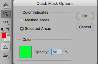 quick mask options