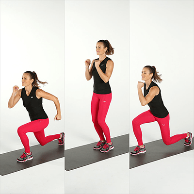 Split-Lunge-Jumps