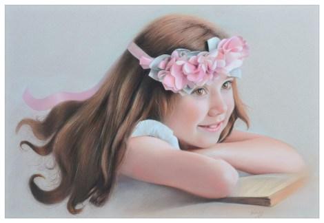 Dia feliz, pastel sobre papel 65x50 cm