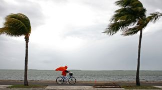 Hurricane Irma's path is unclear, but it's heading west.(Reuters/Eric Thayer)