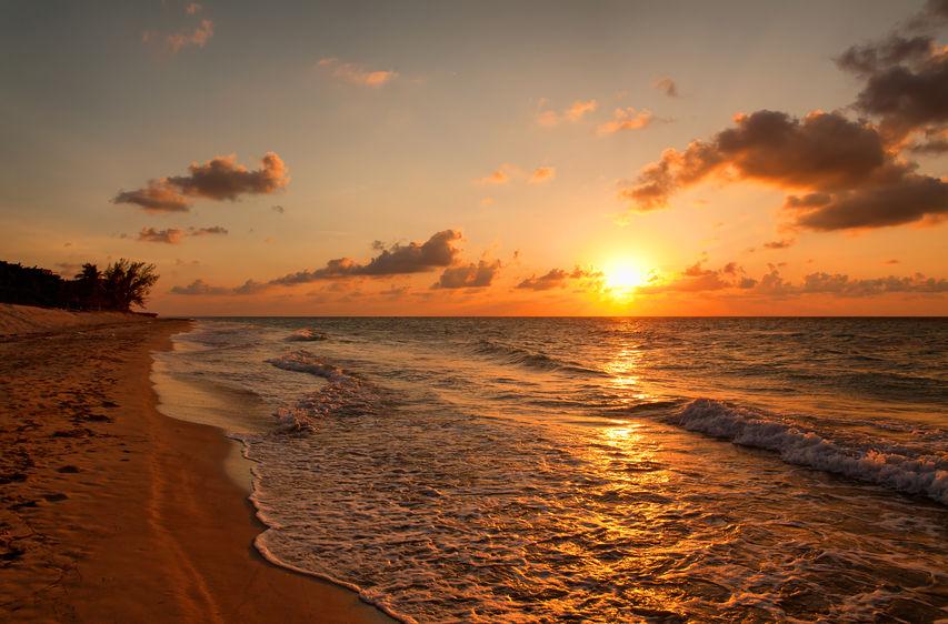 46973352 - beach at sunset, varadero, cuba