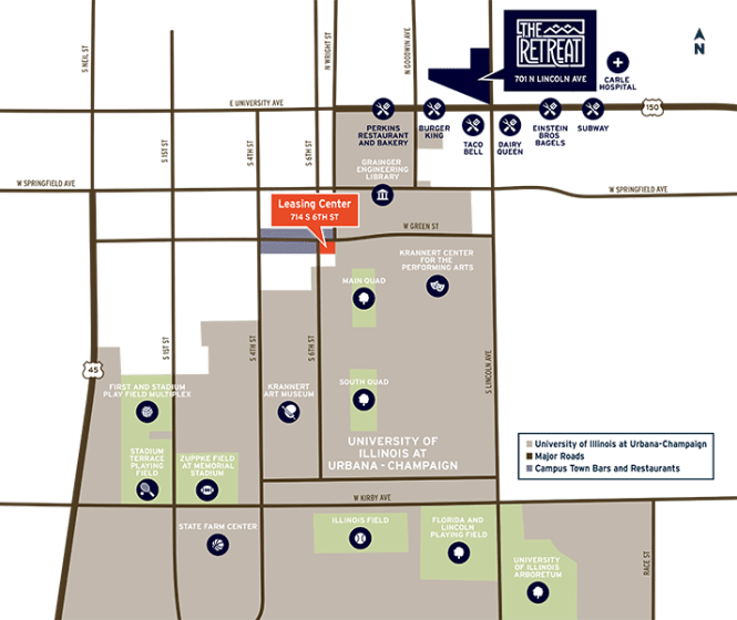 Location Of Off Campus Apartments Near