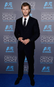 red - chris hemsworth in dolce & gabbana
