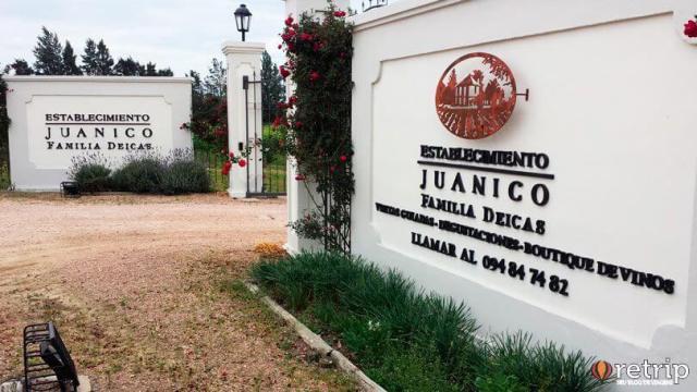 Entrada da vinícola Bodega Juanicó, em Montevidéu