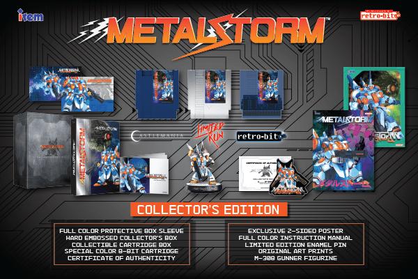 Metal Storm, Collector's Edition, NES, Irem, Retro-Bit, Castlemania, Limited Run Games