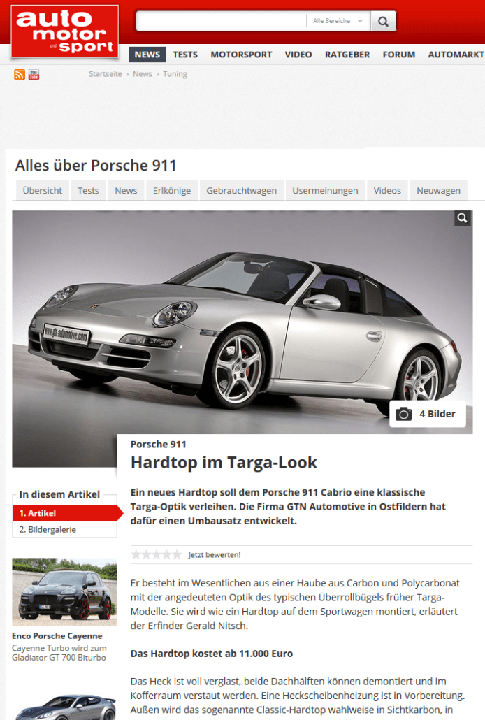 Bericht Auto Motor Sport