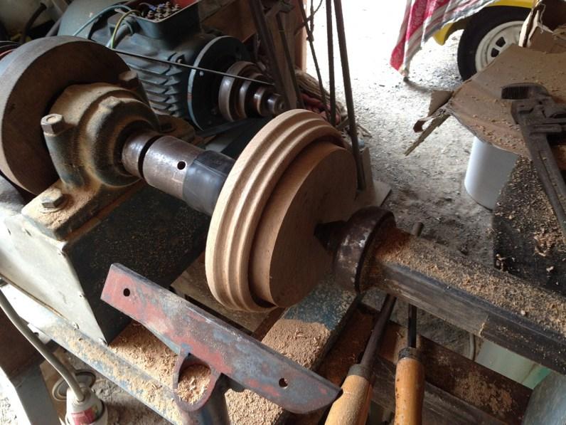 Fabrication socle en bois au tour
