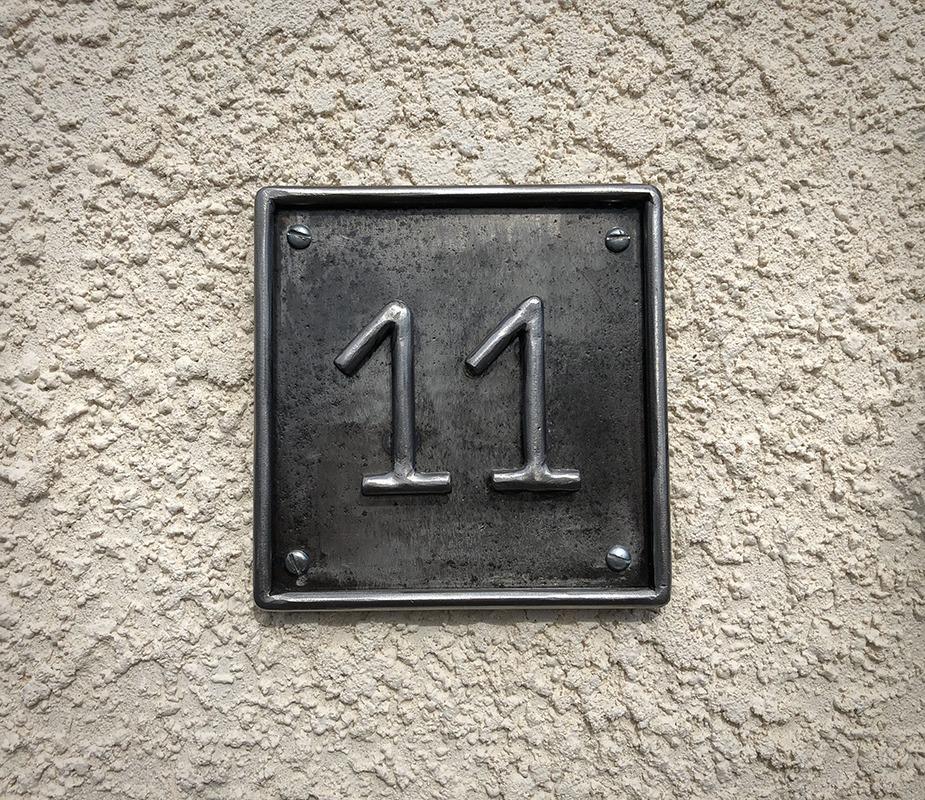 Numéro de rue en métal