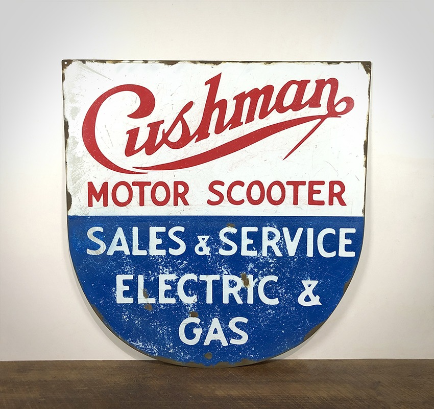 Plaque Cushman Motor Scooter