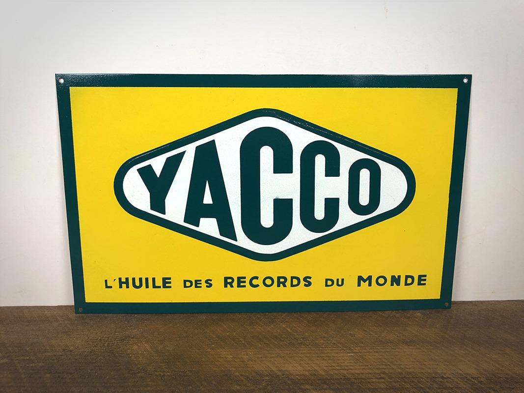 Plaque en tôle peinte Yacco