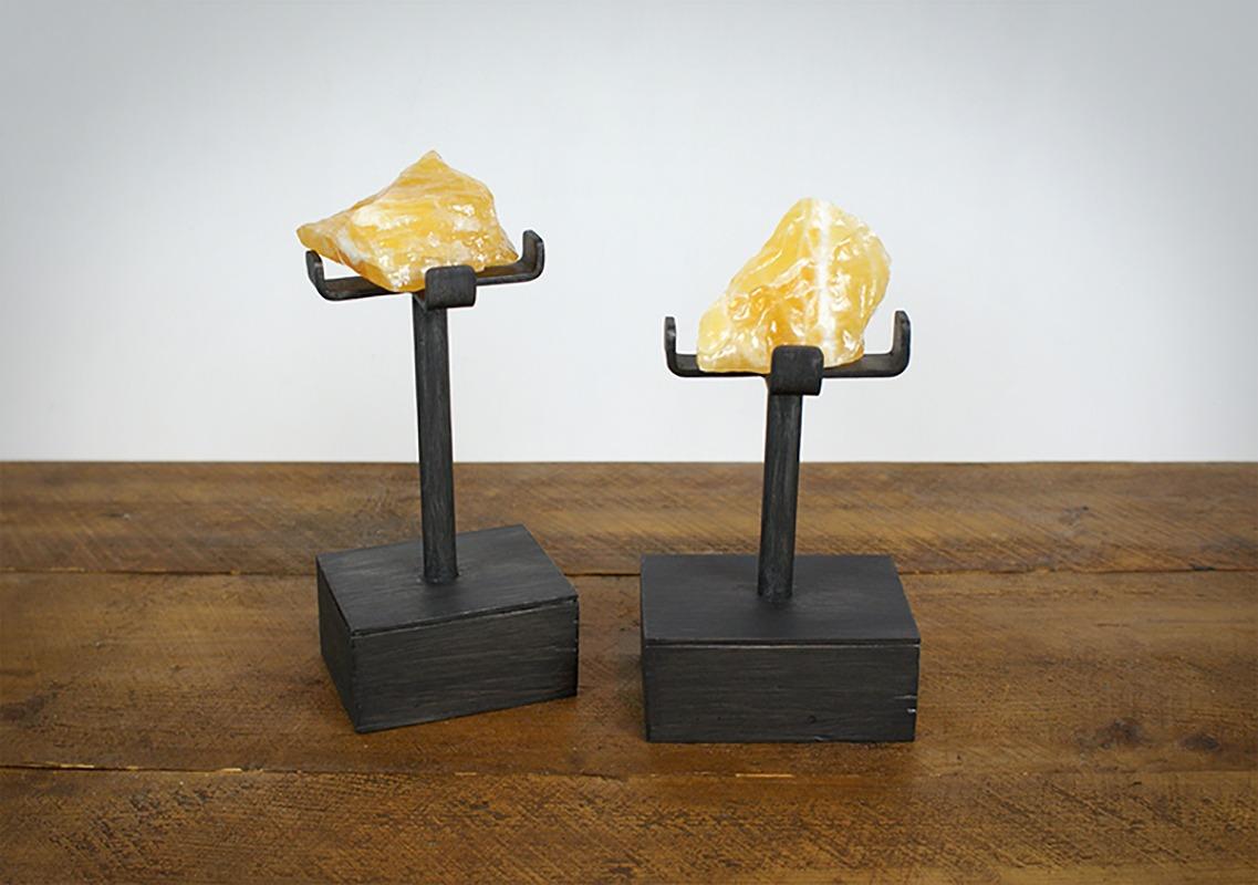 Support pour minéraux en métal