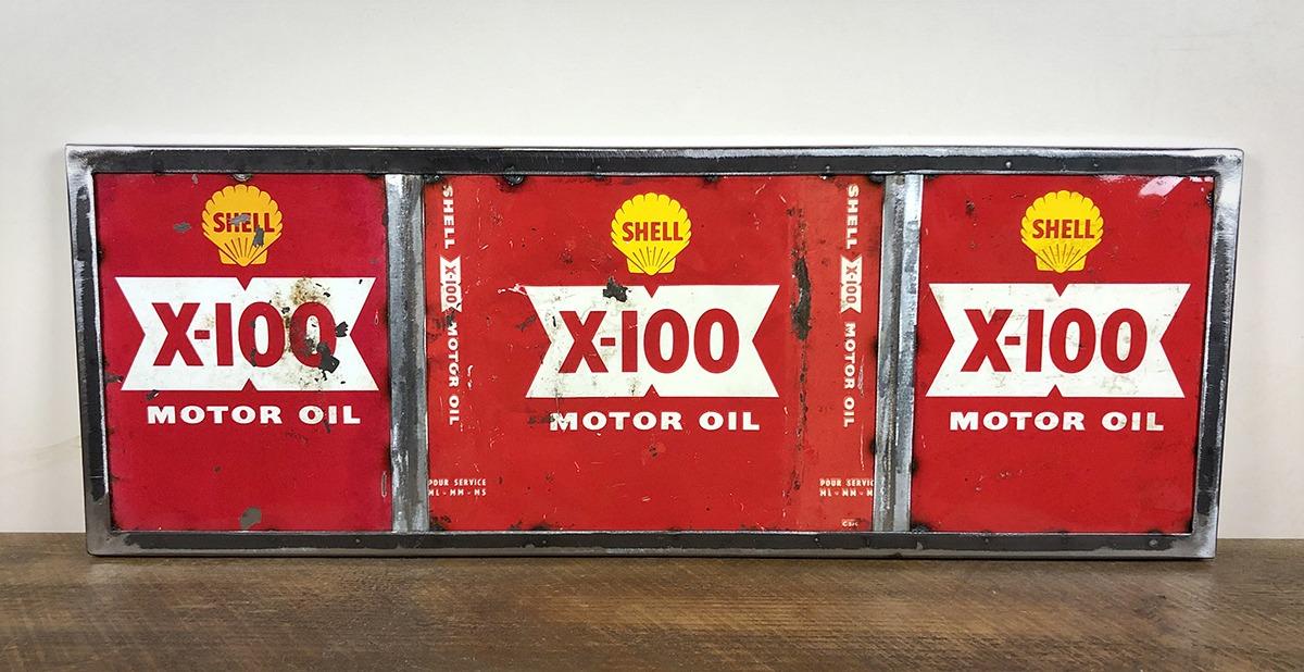 Bidons d'huiles Shell X100