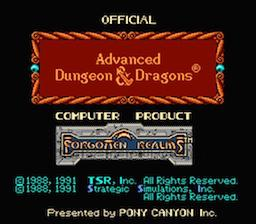 Advanced Dungeons & Dragons ヒルズファー