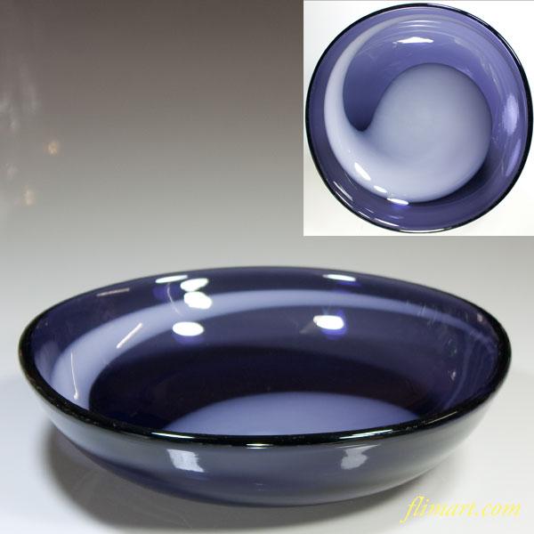 昭和レトロ紫ガラスボウルR4391