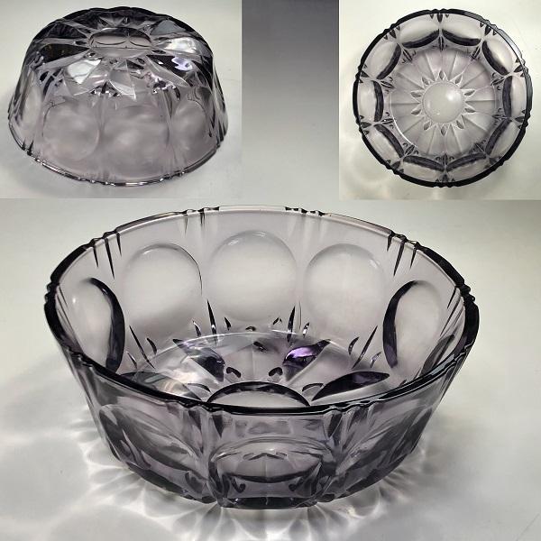 紫ガラスボウルR7058