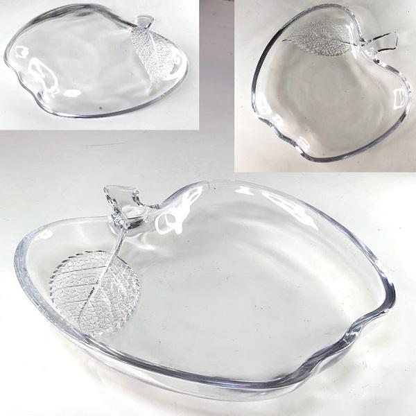 リンゴガラス皿R7649