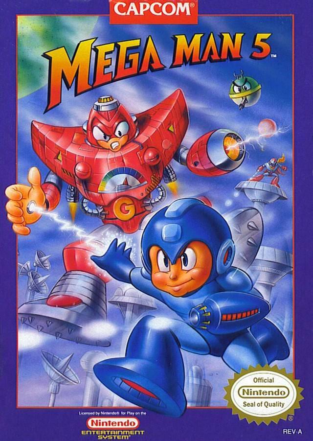 mega man 5 nes nintendo 1992 the