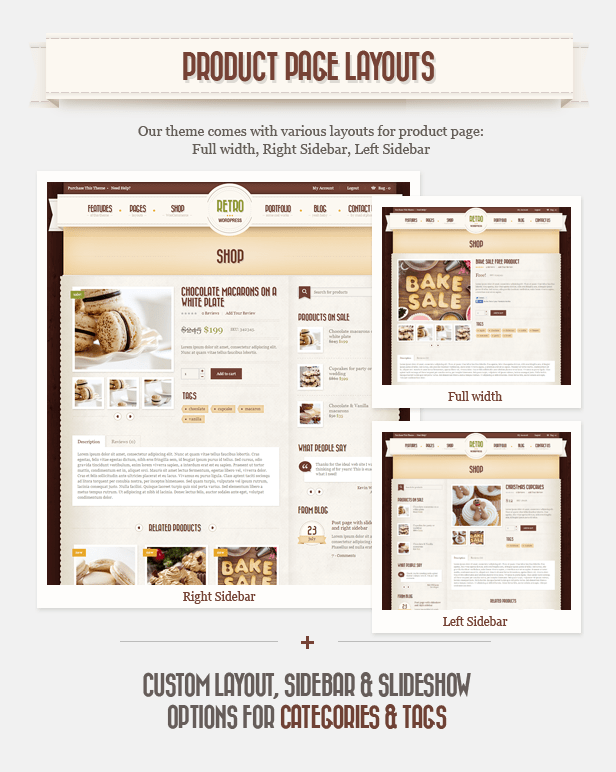 Retro WordPress Theme WooCommerce