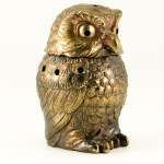Hoot owl incense burner made in Japan in 1950s - 1960s.