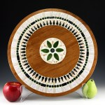 "Beautiful huge 15½"" round retro vintage centerpiece trivet made in the 1970s or earlier."