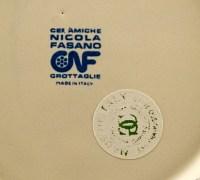 Permanently marked 'ceramiche Nicola Fasano CNF Grottaglie Made in Italy'.