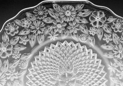 Indiana Glass Pineapple and Floral Pattern