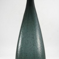It is a Blenko 920L decanter and originally came with a tall teardrop stopper in matching color.