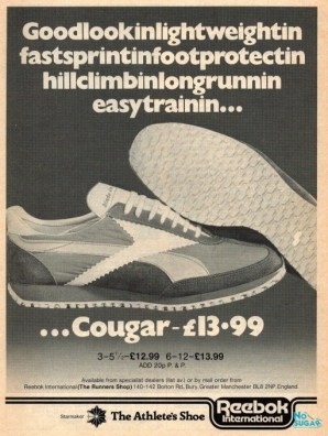 1978 April Reebok Cougar