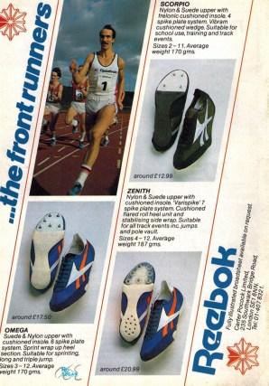 1982 Reebok Spikes