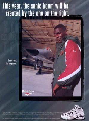 Kemp Reebok Sonic Boom Ad 97