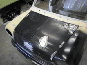 Montage de la face avant et du capot moteur Mini MK 3