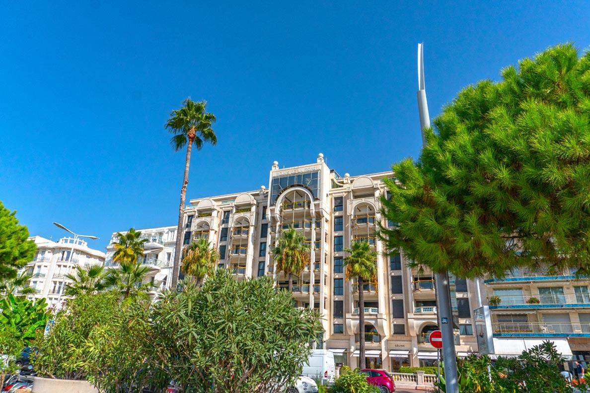 Luxushotels an der Croisette, der Uferpromenade von Cannes