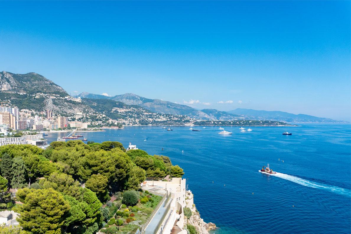 Blick auf das Mittelmeer vor Monaco