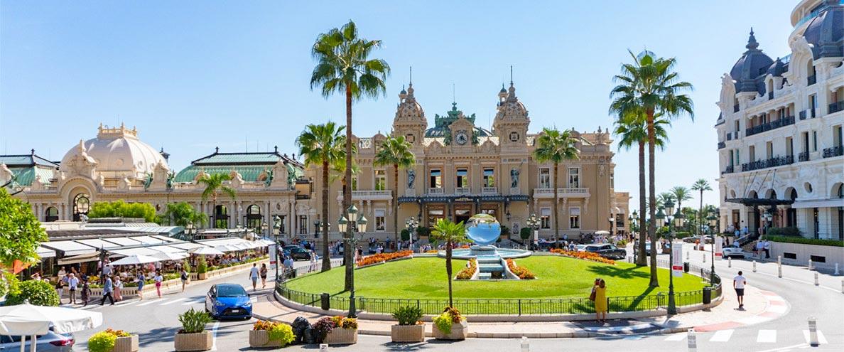 Das Luxuscasino von Monte-Carlo in Monaco
