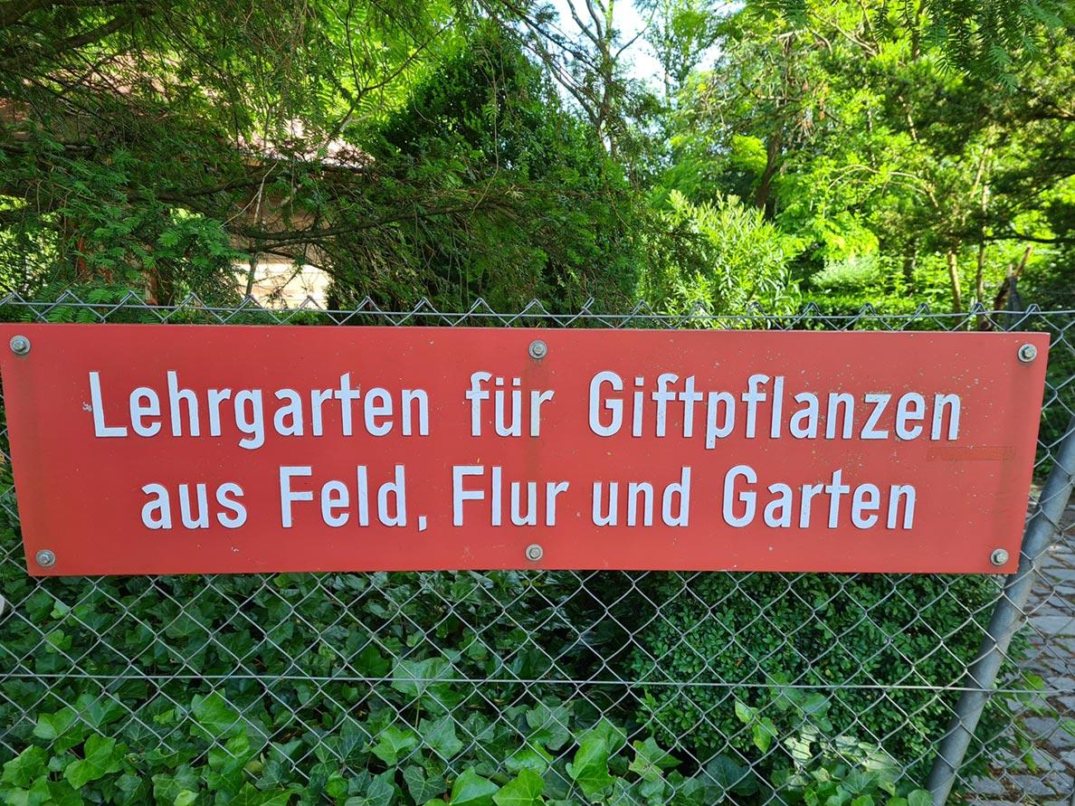 Lehrgarten für Giftpflanzen in München