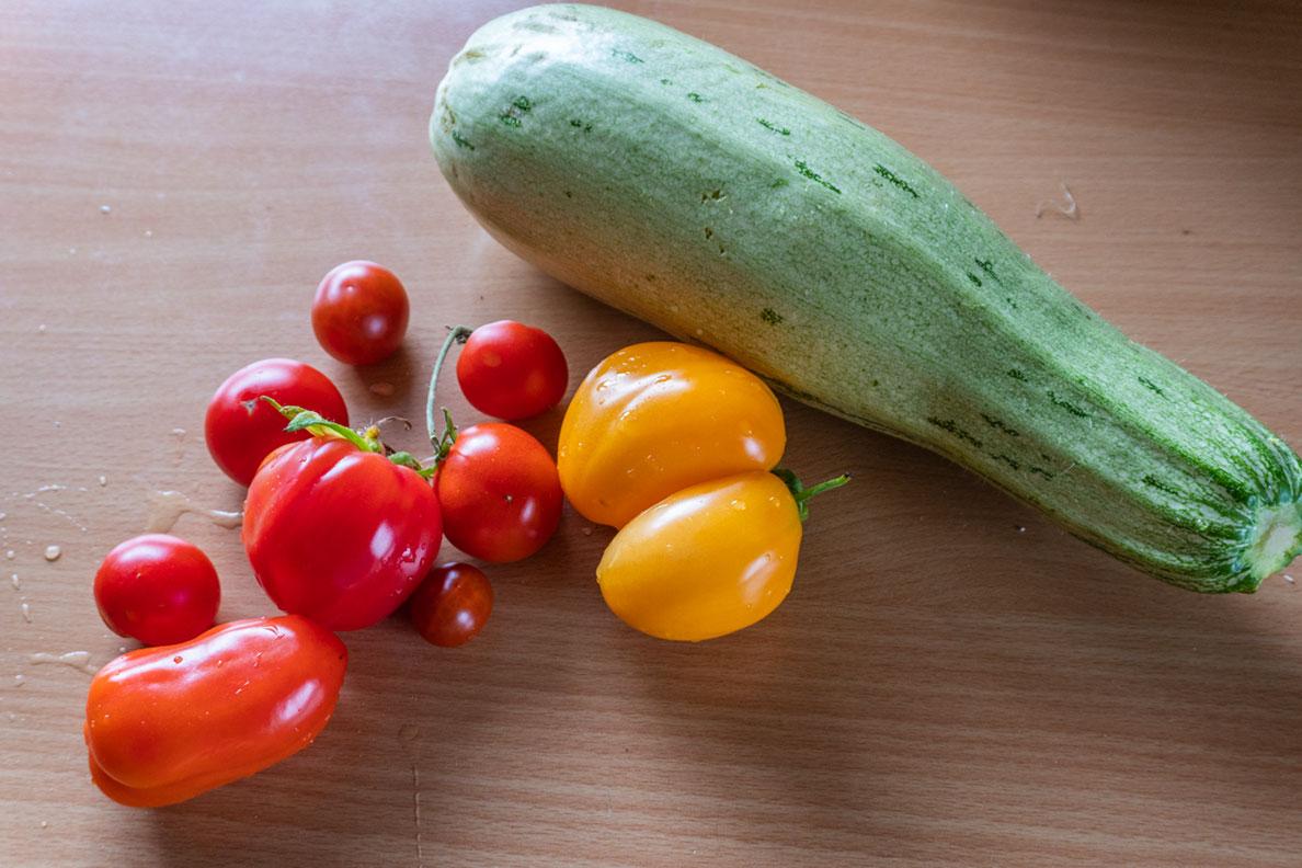 RetroCats Gemüse-Ernte aus dem eigenen Garten