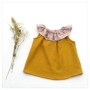 Top-en-gaze-de-coton-moutarde-et-wiltshire-bud-aurore-enfant-bébé-retrochic-boutique