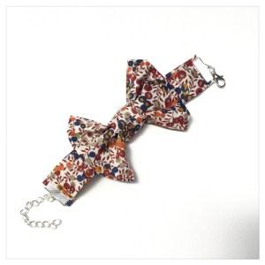 Bracelet manchette liberty wiltshire bud bougainvilliers
