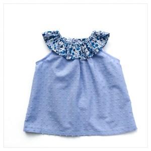 Top-en-plumetis-de-coton-bleu-orage-et-wiltshire-curaçao-enfant-bébé-retrochic-boutique