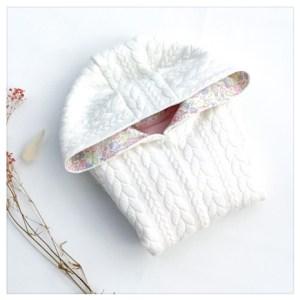 veste pour bébé et enfant crème/rose/betsy dragée