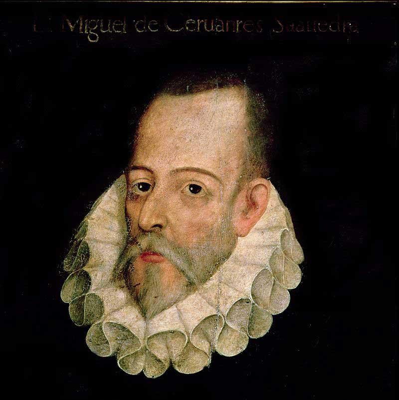 Retrato Cervantes por Jáuregui