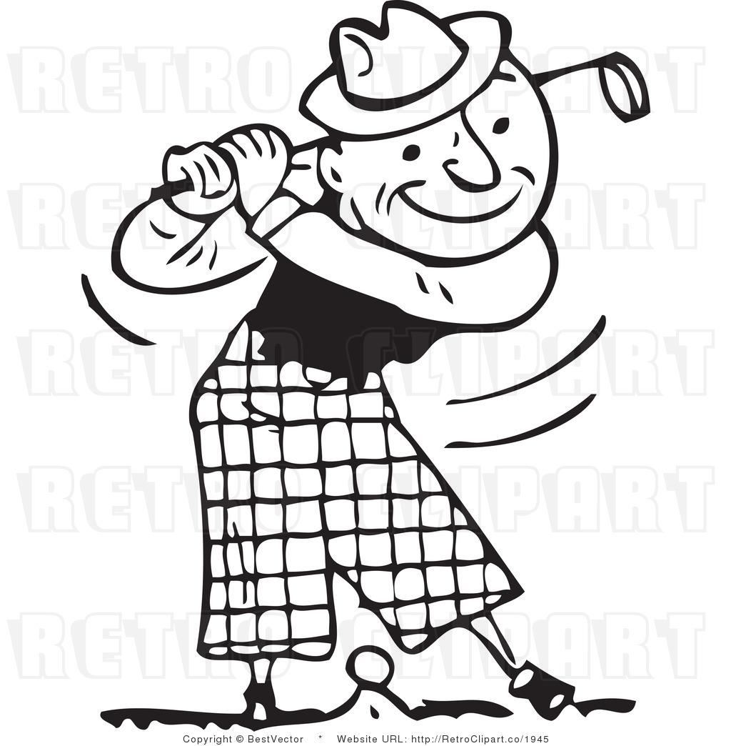 Golfer Clipart Free