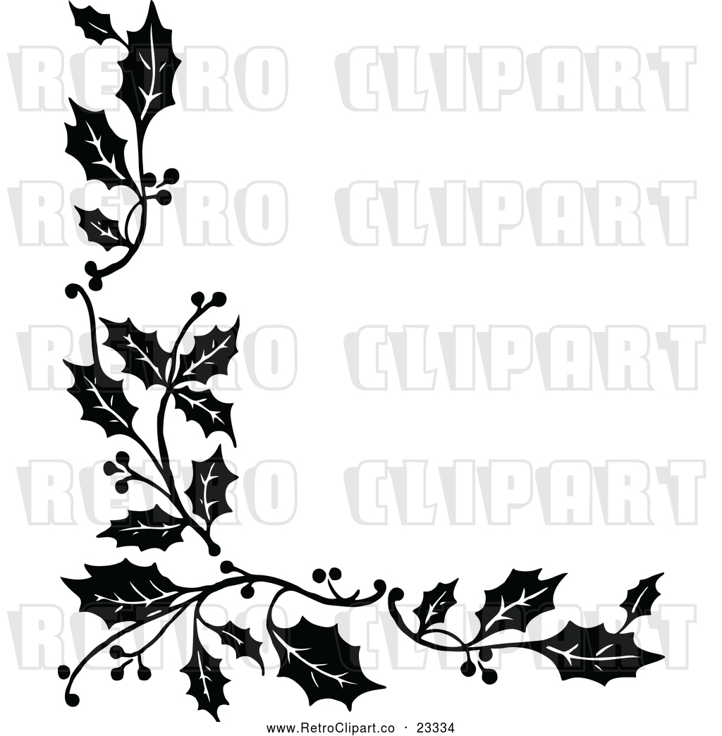 Christmas Holly Border Clipart