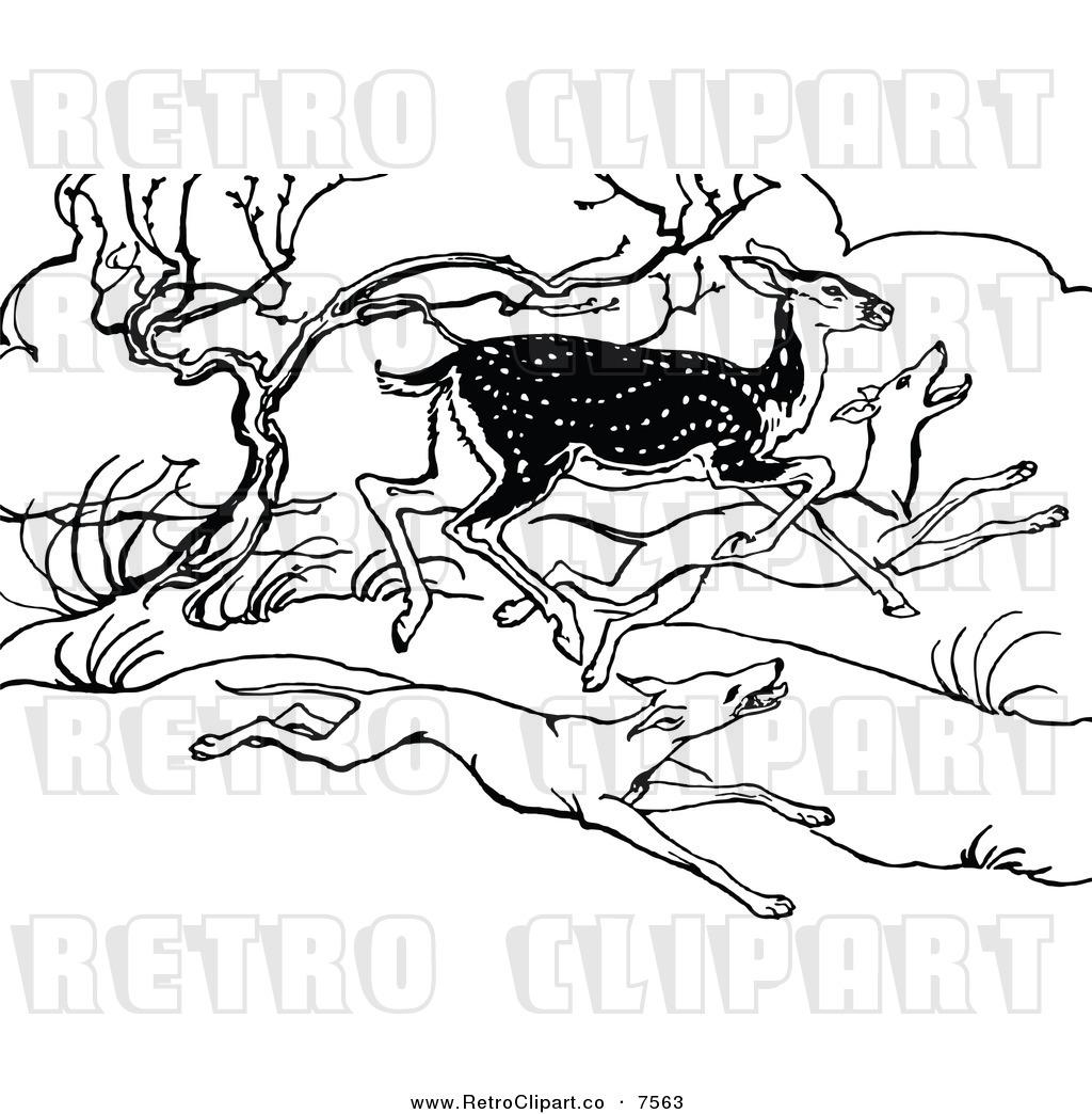 Royalty Free Deer Stock Retro Designs